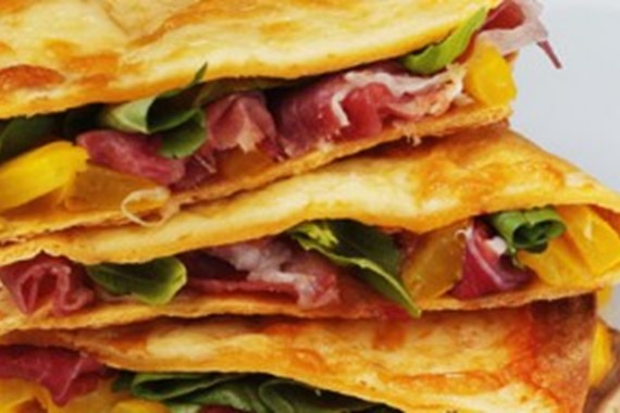Parma Ham and Basil Quesadilla