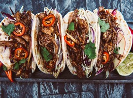 BBQ Pulled Pork with Apple Slaw Tacos