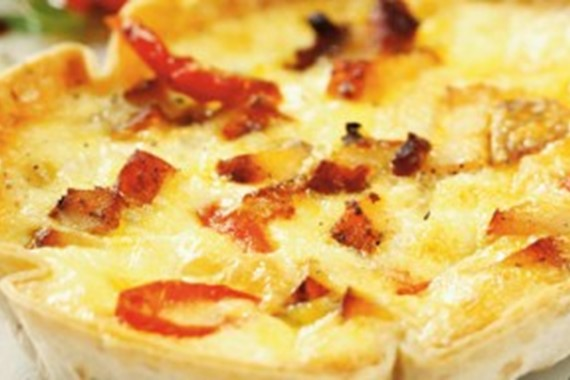 Smoked Chicken and Pepperdew Quiche
